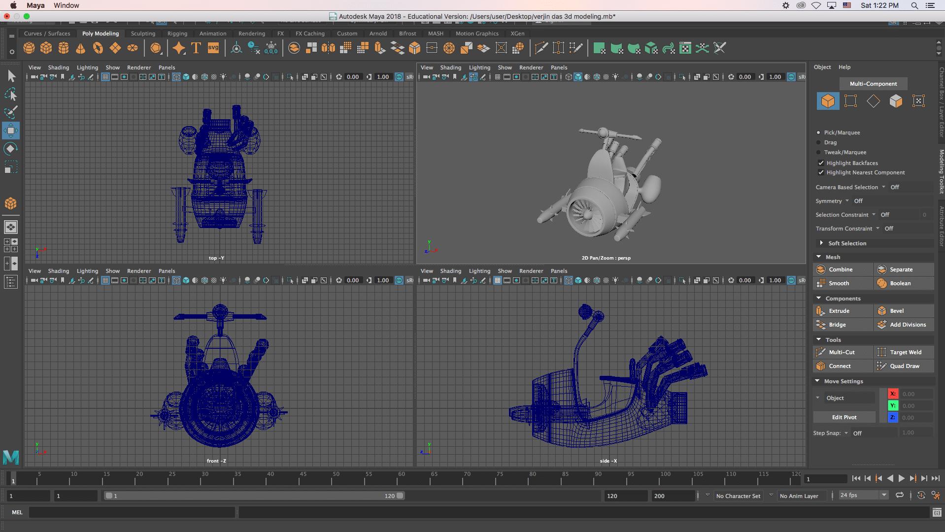 mini bike arthur - 3D Modeling