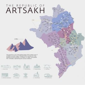 A Tourist Map of Artsakh