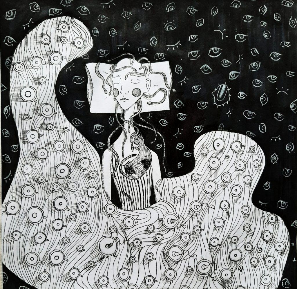 lilith davtian1 1024x996 - Linear Illustration