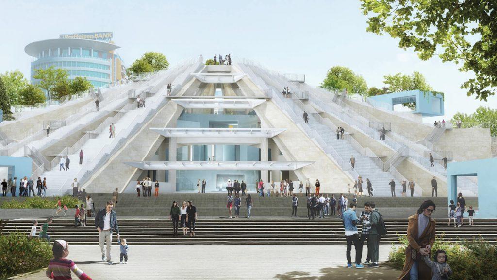 mvrdv will renovate the pyramid of tirana in albania pyramid of tirana designed by mvrdv stirworld 210227054249 1024x576 - La Biennale